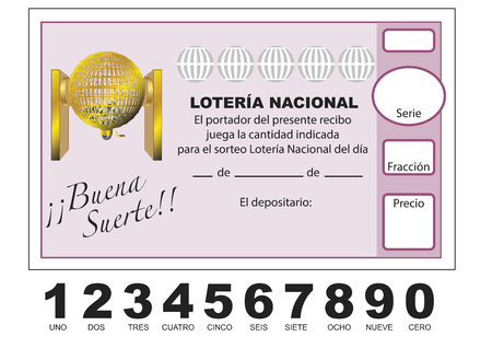 Spanish national lottery tenth illustration.