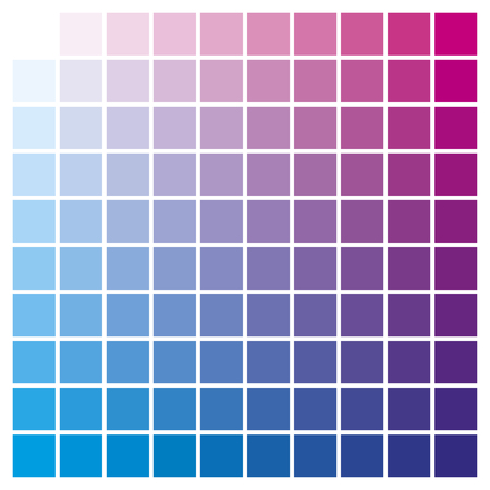 Cmyk Color Chart To Use In Prepress And Printing. Used To Pick ...