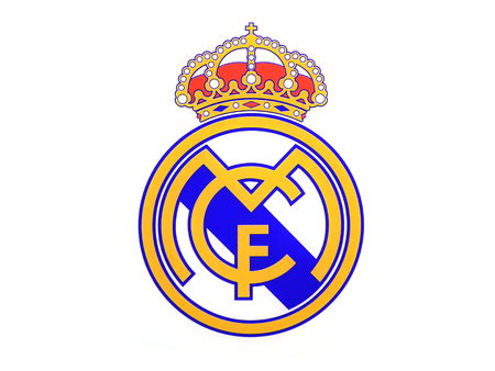 MADRID, SPAIN - MAY 17, 2018: Real Madrid Logo over a white background Editorial