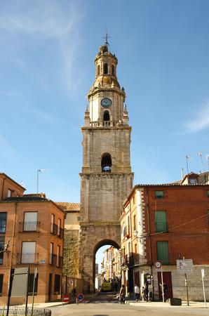 clock tower or torre del reloj in the town of Toro. Zamora, Castile and Leon, Spain