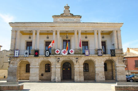Town hall facade in the town of Toro, Zamora, Castile and Leon, Spain Imagens