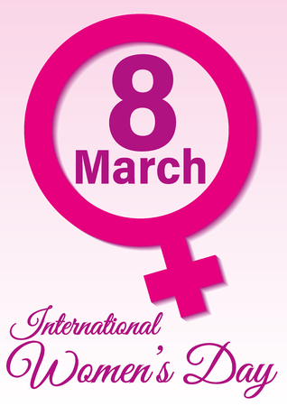International women's day. Feminism. March the eight. wallpaper, background. Vector illustration