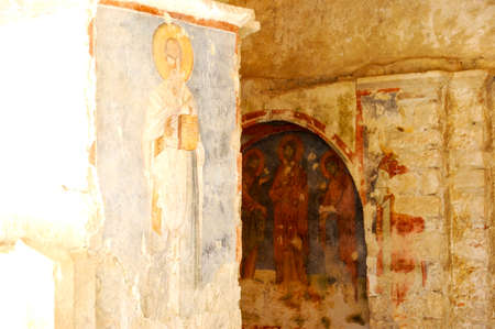 Ancient icons, fresco in the church of nicholas