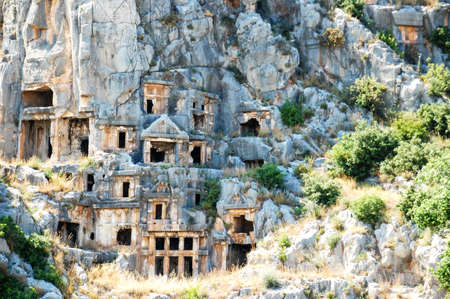 Rock tombs of the Lycian civilization. Travellestria