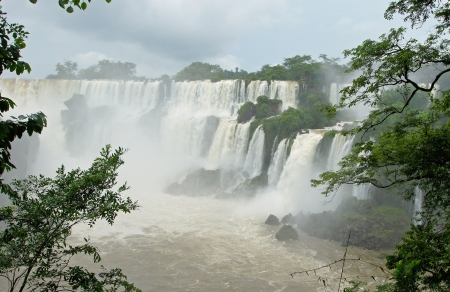 Waterfalls of Iguazu, Argentina, South America Stock Photo
