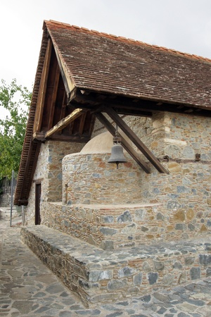 Beautiful ancient barn roof church, Cyprus, South Europe photo