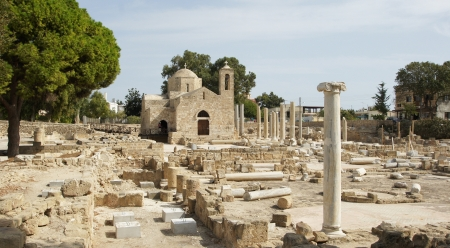 Ancient world meets present, Paphos, Cyprus, Europe Stock Photo - 18455035