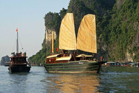 long bay: Junk, Ha Long Bay, Vietnam