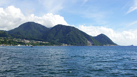 Panorama of the island Dominica, Caribbean Sea