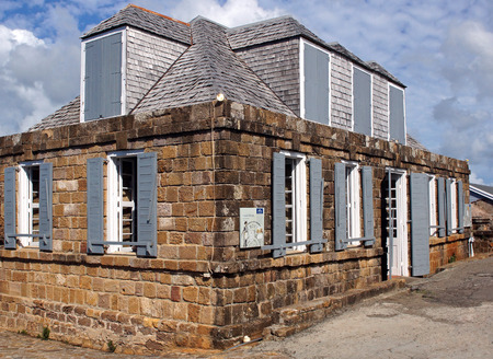 guard house: Historic Guard House on Shirley Heights, English Harbour, Antigua and Barbuda, Caribbean
