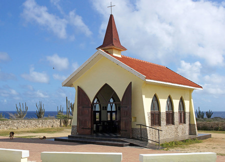 Chapel Alto Vista, tourist attraction of Aruba, ABC Islands