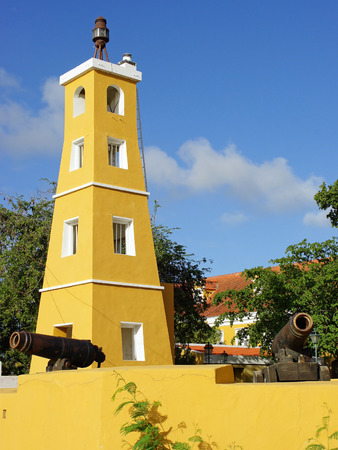 Lighthouse and Fort Oranje, Kralendijk, Bonaire, ABC Islands