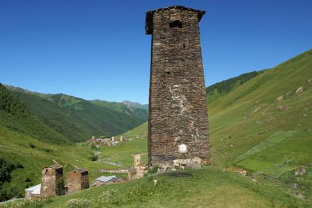 swanetia: Fortified towers of Ushguli, Swanetia, Georgia, Europe