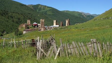 swanetia: Panorama of Ushguli, Swanetia, Georgia, Europe