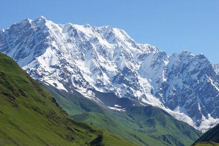 swanetia: Schchara Mountain, the highest mountain of Georgia, Europe Stock Photo