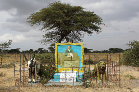 rift: GREAT RIFT VALLEY, ETHIOPIA - NOVEMBER 24, 2014: Beautiful painted tombs of clan chiefs on November 24, 2014 in the Graet Rift Valley, Ethiopia, Africa