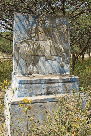 rift: GREAT RIFT VALLEY, ETHIOPIA - NOVEMBER 15, 2014: Beautiful painted tombs of clan chiefs on November 15, 2014 in the Graet Rift Valley, Ethiopia, Africa Editorial