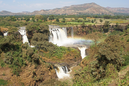 Blue Nile waterfalls, Bahar Dar, Ethiopia, Africa Stock Photo
