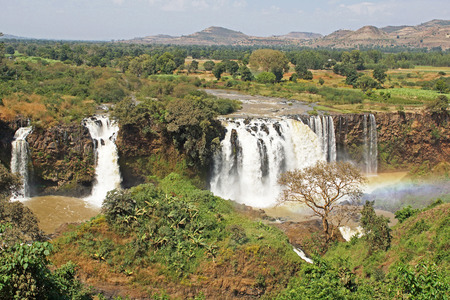 Blue Nile waterfalls, Bahar Dar, Ethiopia, Africa Stock Photo
