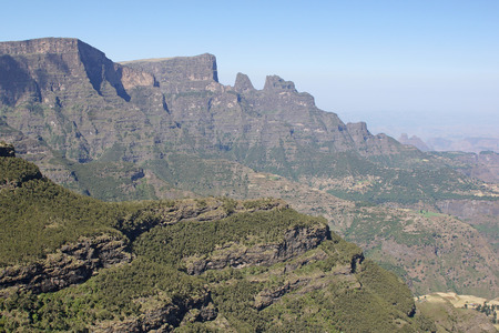 nger: Panorama of the landscape of Semien Mountains National Park, Ethiopia, Africa