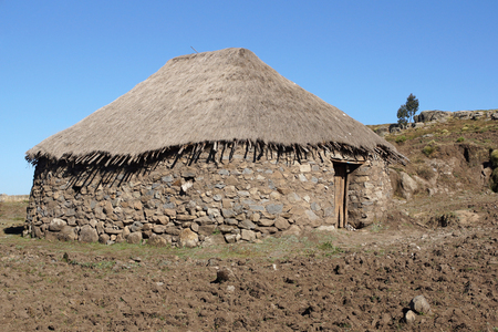 upland: Traditional homes in the upland of Amhara, Ethiopia, Africa
