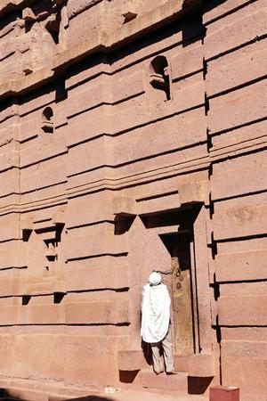 monolithic: LALIBELA ETHIOPIA DECEMBER 4 2014: Monolithic churchs of Lalibela on December 4 2014 in Ethiopia Africa