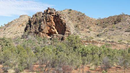 ranges: Corroboree Rock, East MacDonnell Ranges, Northern Territory, Australia Archivio Fotografico