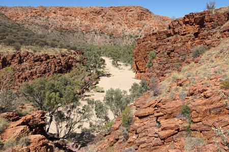 ranges: Trephina Gorge, East MacDonnell Ranges, Northern Territory, Australia Stock Photo