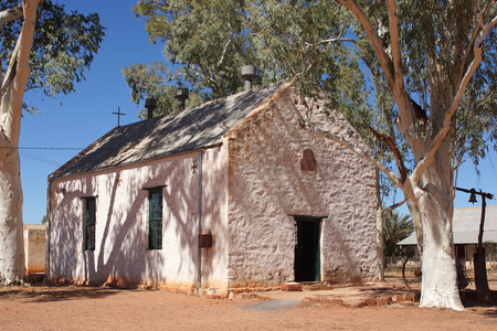 the old church: Old church of Hermannsburg, Northern Territory, Australia