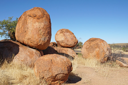 Devils Marbles, Stuart Highway, Northern Territory, Australia Stock Photo