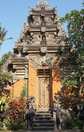 puri: Puri Saren, sights of Ubud, Bali, Indonesia