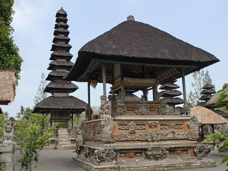 taman: BALI, INDONESIA - SEPTEMBER 29, 2015: Pura Taman Ayun, one of the most important temples of Bali on September 29, 2015 in Mengwi, Indonesia