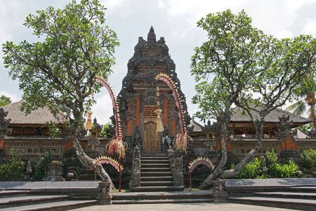 saraswati: Pura Taman Saraswati, sights of Ubud, Bali, Indonesia