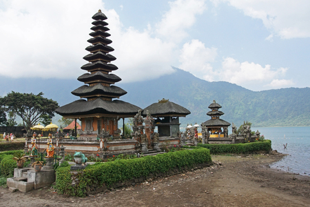 danu: BALI, INDONESIA - DECEMBER 02, 2015: Pura Ulun Danu Bratan, one of the sights of Bali on December 02, 2015 in Bali, Indonesia