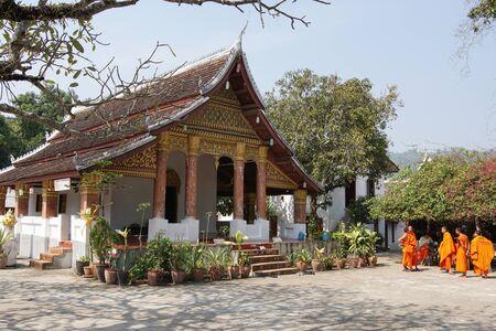 sop: LUANG PRABANG, LAOS - FEBRUARY 10, 2016: Wat Sop Sickharam, one of the temples in Luang Prabang on February 10, 2016 in Laos, Asia