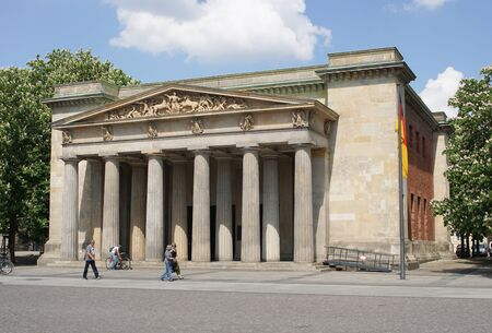 sights: BERLIN, GERMANY - MAY 12, 2016: Old guardhouse, sights of Berlin on May 12, 2016 in Germany, Europe Editorial