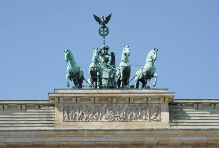 brandenburg gate: Brandenburg Gate, landmark of German reunification, Berlin, Germany Stock Photo