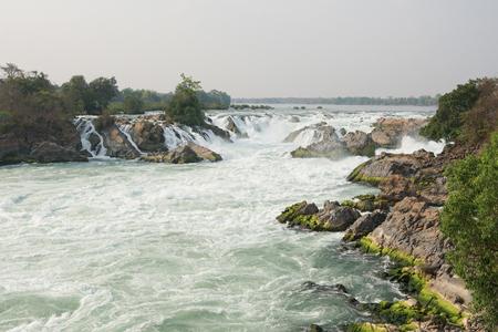 mekong: Khone Phapheng Waterfalls, Mekong River, Laos, Asia