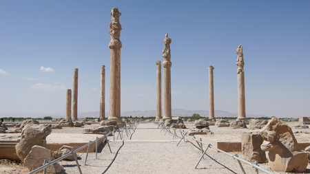 PERSEPOLIS, IRAN - OCTOBER 6, 2016: Impressions of the historical site of Persepolis on October 6, 2016 in Iran, Asia