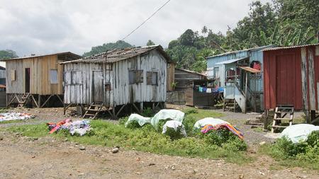 Village Ribeira Afonso, Sao Tome and Principe, Africa