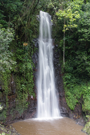 Waterfall Sao Nicolau, Sao Tome and Principe, Africa Imagens