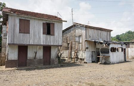 RIBEIRA AFONSO, SAO TOME - JANUARY 29, 2017: Fishermen village Ribeira Afonso on  Sao Tome Island on January 29, 2017 in Sao Tome and Principe, Africa