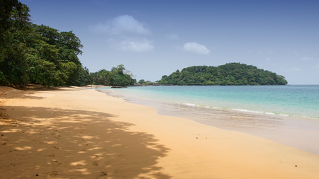 プリンシペ島、サントメ ・ プリンシペ、アフリカ プライア ココ 写真素材