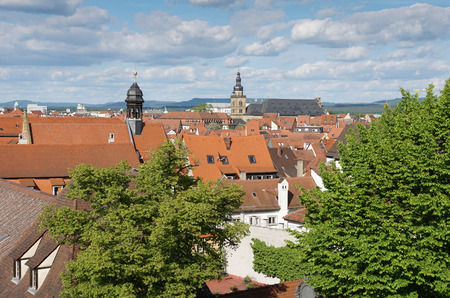 View over the roofs of Bamberg, Bavaria, Germany, Europe