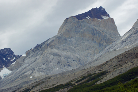 Landscape of the Torres del Paine National Park, Chile, South America