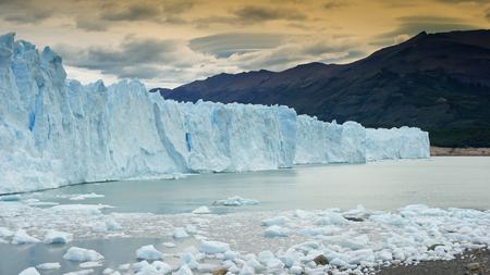 calafate: Glacier Perito Moreno, National Park Los Glaciares, Patagonia, Argentina Stock Photo