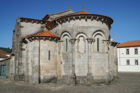 spiritual architecture: Romanesque church of Sao Pedro de Rates, Camino de Santiago, Portugal