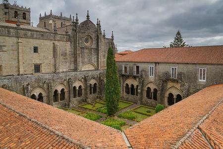 トゥイ大聖堂、カミノ・デ・サンティアゴ、スペイン 写真素材