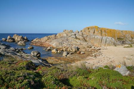 Beautiful landscape of Galicia, coastline close to O Grove, Spain, Europe Stock Photo
