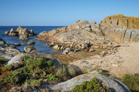 Beautiful landscape of Galicia, coastline close to O Grove, Spain, Europe Imagens